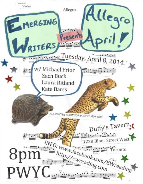 The EW Reading Series Presents Allegro April!